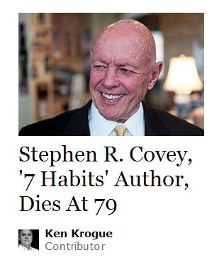 Stephen Covey Died at age 79